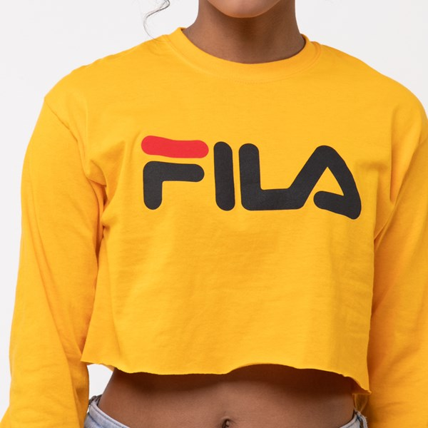 alternate image alternate view Womens Fila Cropped Long Sleeve TeeALT4