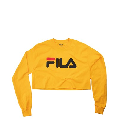 Main view of Womens Fila Cropped Long Sleeve Tee