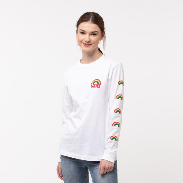 Womens Vans Rainbow Long Sleeve Boyfriend Tee