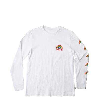 Main view of Womens Vans Rainbow Long Sleeve Boyfriend Tee