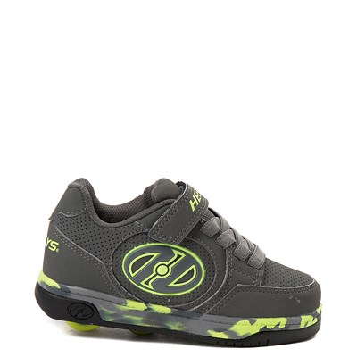 Main view of Heelys Plus X2 Skate Shoe - Little Kid / Big Kid - Charcoal / Yellow