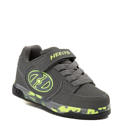Alternate view of Heelys Plus X2 Skate Shoe - Little Kid / Big Kid - Charcoal / Yellow