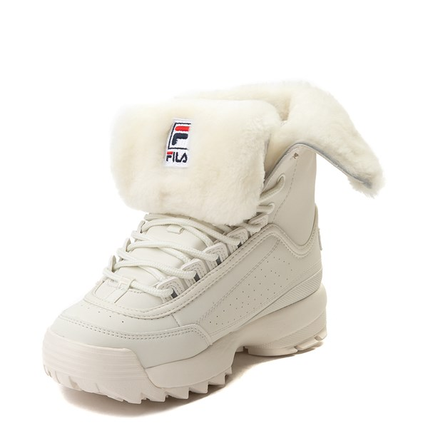 alternate image alternate view Womens Fila Disruptor Shearling Athletic ShoeALT3