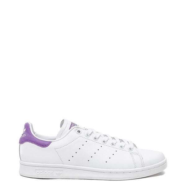 Womens adidas Stan Smith Athletic Shoe - White / Purple