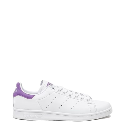 Main view of Womens adidas Stan Smith Athletic Shoe - White / Purple