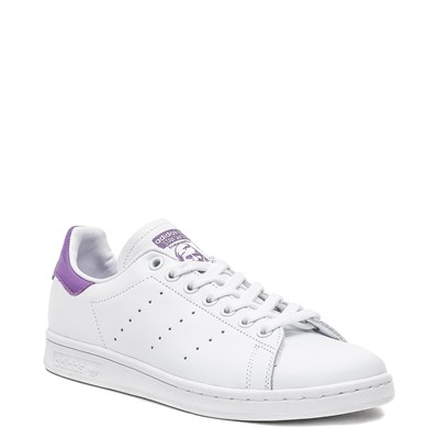 Alternate view of Womens adidas Stan Smith Athletic Shoe - White / Purple