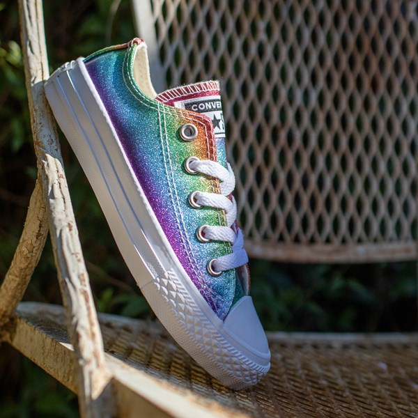 alternate image alternate view Converse All Star Lo Rainbow Glitter Sneaker - Little KidALT1C