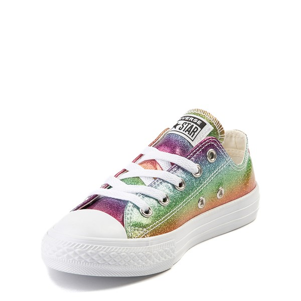 alternate image alternate view Converse All Star Lo Rainbow Glitter Sneaker - Little KidALT2