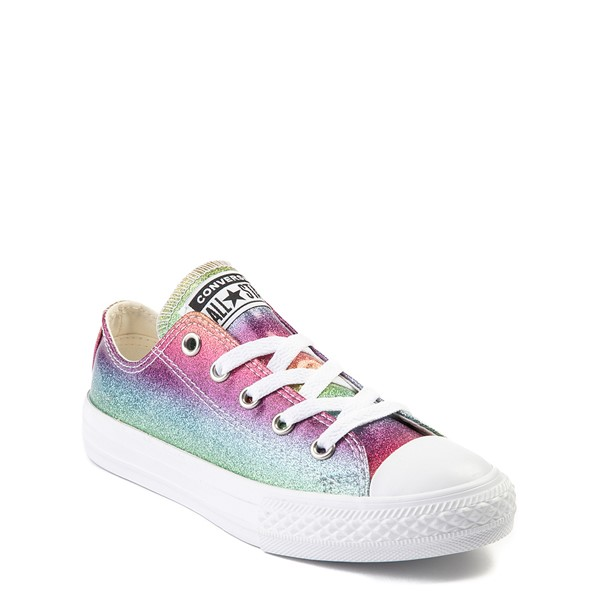 alternate image alternate view Converse All Star Lo Rainbow Glitter Sneaker - Little KidALT5