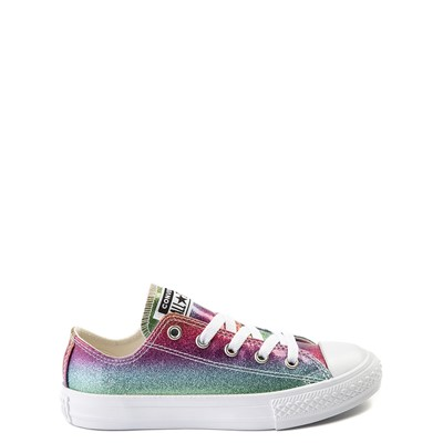 Main view of Converse All Star Lo Rainbow Glitter Sneaker - Little Kid