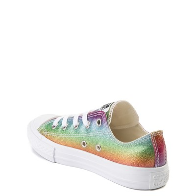 Alternate view of Converse All Star Lo Rainbow Glitter Sneaker - Little Kid