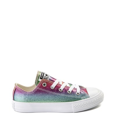 Main view of Youth Converse All Star Lo Rainbow Glitter Sneaker