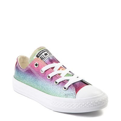 Alternate view of Youth Converse All Star Lo Rainbow Glitter Sneaker