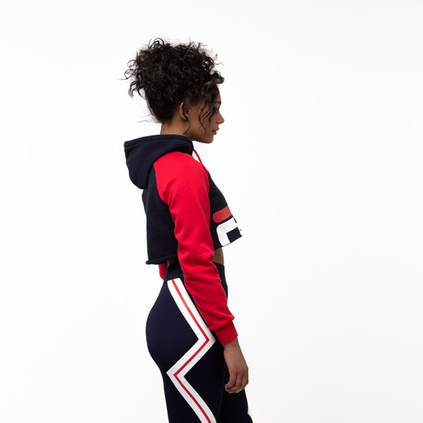 alternate image alternate view Womens Fila Luciana Cropped HoodieALT3
