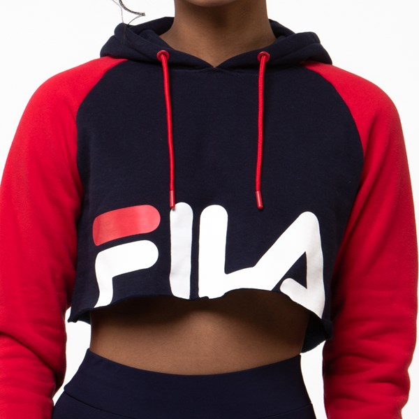 alternate image alternate view Womens Fila Luciana Cropped HoodieALT4