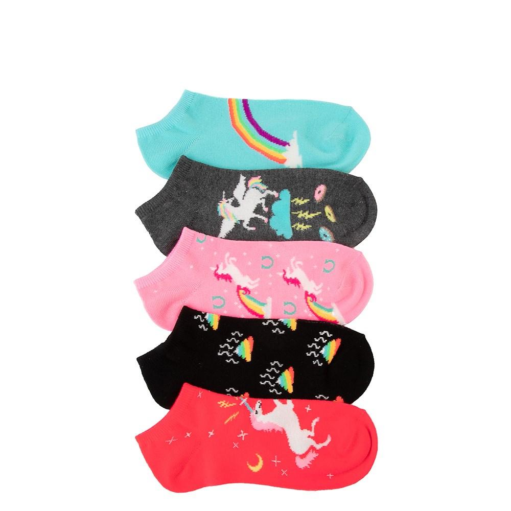 Womens Unicorn Glow Low Cut Socks 5 Pack