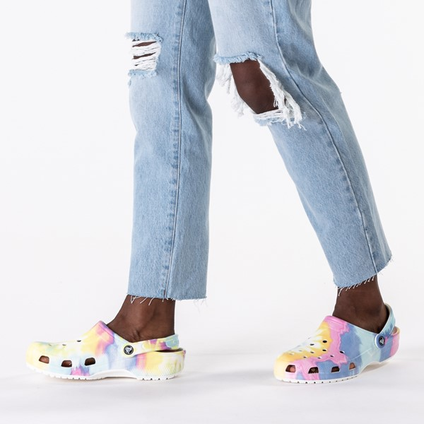 alternate image alternate view Crocs Classic Clog - Tie DyeB-LIFESTYLE1