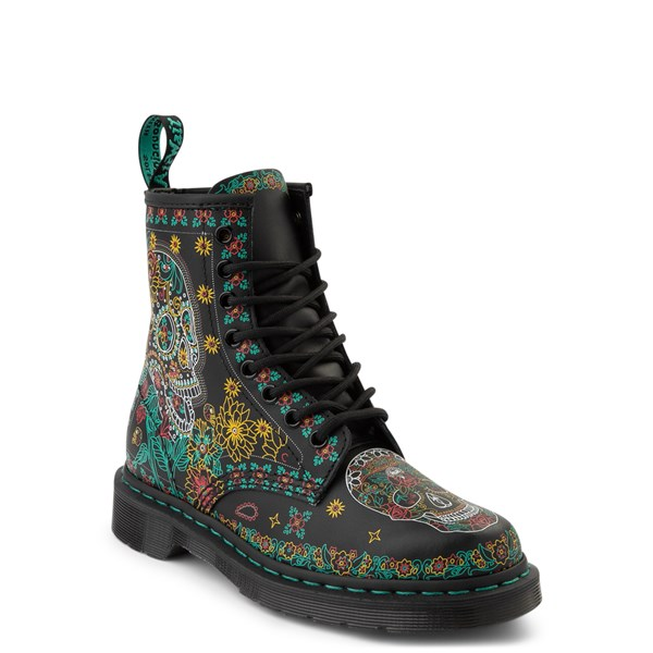 alternate image alternate view Dr. Martens 1460 8-Eye Day of the Dead BootALT1