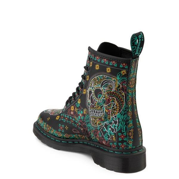 alternate image alternate view Dr. Martens 1460 8-Eye Day of the Dead BootALT2