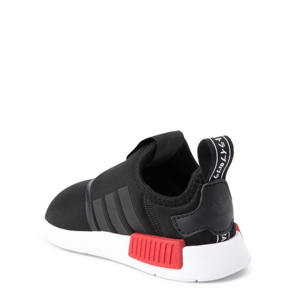 alternate image alternate view adidas NMD 360 Slip On Athletic Shoe - Baby / Toddler - Core Black / Red / BlueALT1