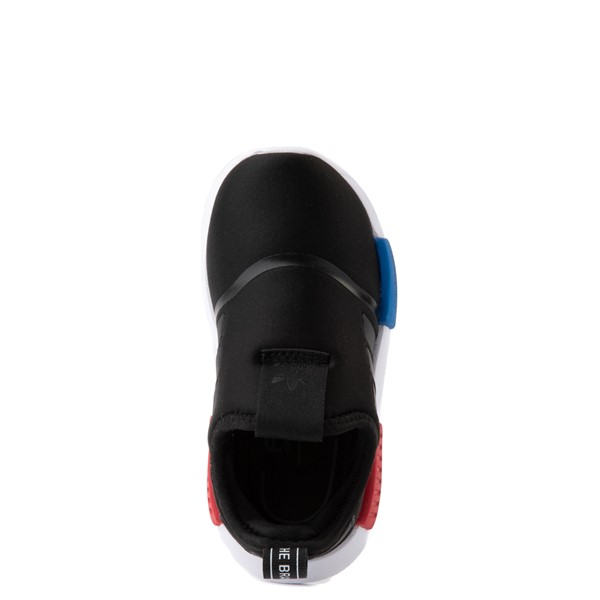alternate image alternate view adidas NMD 360 Slip On Athletic Shoe - Baby / Toddler - Core Black / Red / BlueALT2
