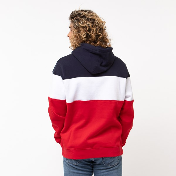 alternate image alternate view Mens Fila Flamino Hoodie - White / Navy / RedALT1