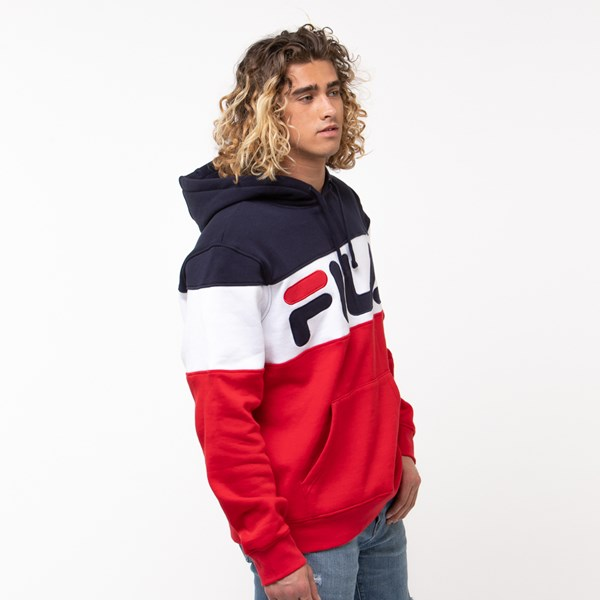 alternate image alternate view Mens Fila Flamino Hoodie - White / Navy / RedALT3