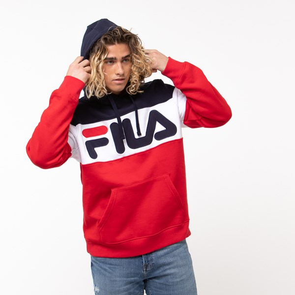 alternate image alternate view Mens Fila Flamino Hoodie - White / Navy / RedALT4