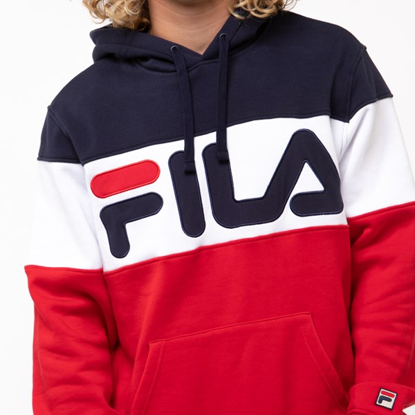 alternate image alternate view Mens Fila Flamino Hoodie - White / Navy / RedALT5