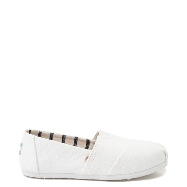 Womens TOMS Classic Slip On Casual Shoe - White