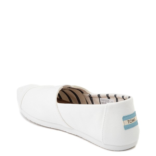 alternate image alternate view Womens TOMS Classic Slip On Casual Shoe - WhiteALT1