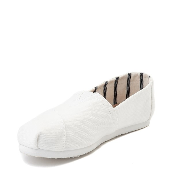 alternate image alternate view Womens TOMS Classic Slip On Casual Shoe - WhiteALT2