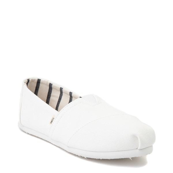 alternate image alternate view Womens TOMS Classic Slip On Casual Shoe - WhiteALT5