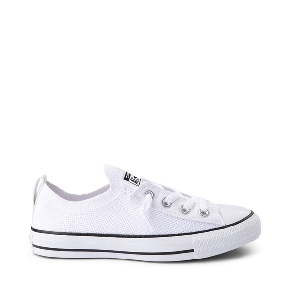 Main view of Womens Converse Chuck Taylor All Star Lo Shoreline Knit Sneaker - White