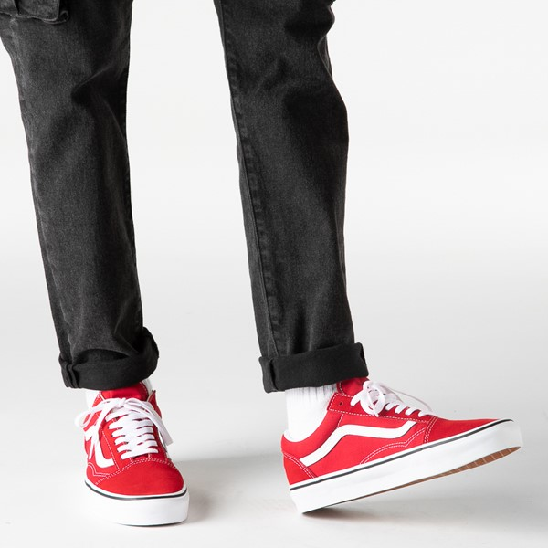 alternate image alternate view Vans Old Skool Skate Shoe - Racing RedB-LIFESTYLE1