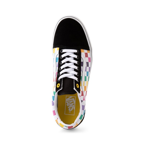 alternate image alternate view Vans Old Skool Rainbow Checkerboard Skate ShoeALT2