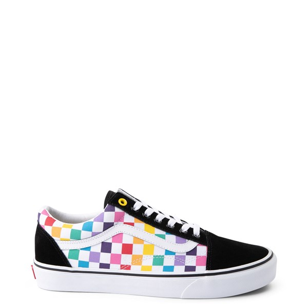 Vans Old Skool Rainbow Checkerboard Skate Shoe