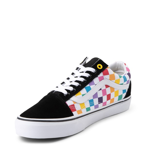 alternate image alternate view Vans Old Skool Rainbow Checkerboard Skate ShoeALT3