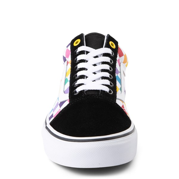 alternate image alternate view Vans Old Skool Rainbow Chex Skate ShoeALT4
