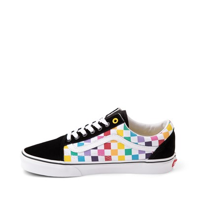 Alternate view of Vans Old Skool Rainbow Checkerboard Skate Shoe - Black / Multi