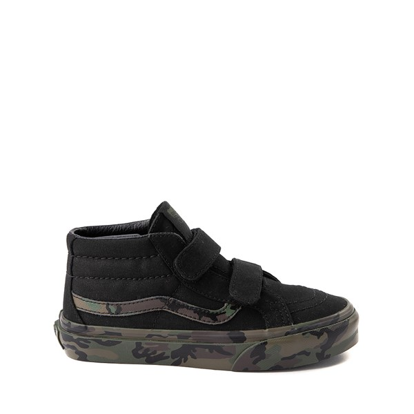 Vans Sk8 Mid V Skate Shoe - Little Kid - Black / Camo