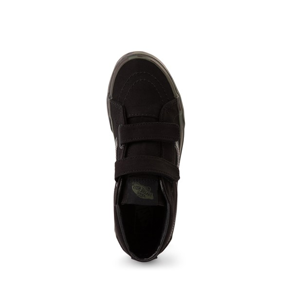 alternate image alternate view Vans Sk8 Mid V Skate Shoe - Little Kid - Black / CamoALT2