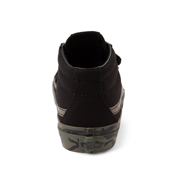 alternate image alternate view Vans Sk8 Mid V Skate Shoe - Little Kid - Black / CamoALT4