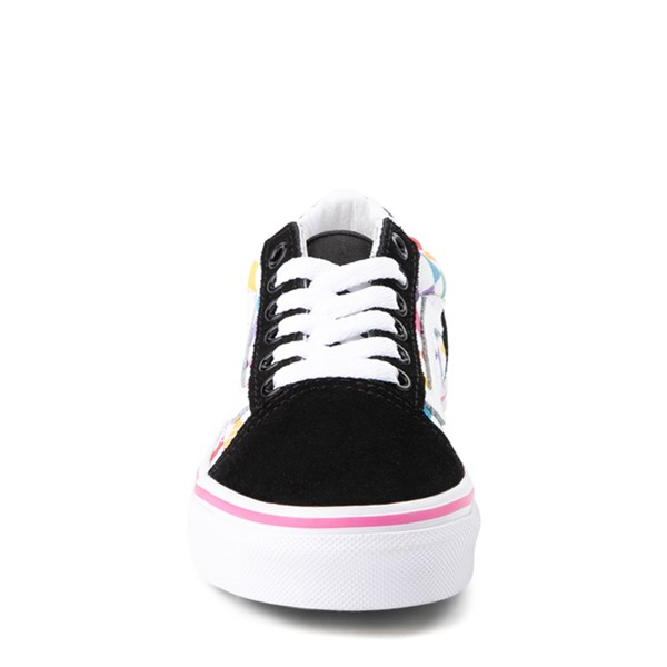 alternate image alternate view Vans Old Skool Rainbow Checkerboard Skate Shoe - Little Kid - Black / MultiALT4
