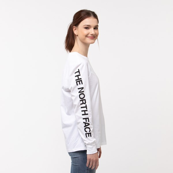 alternate image alternate view Womens The North Face Brand Proud Long Sleeve Tee - WhiteALT3