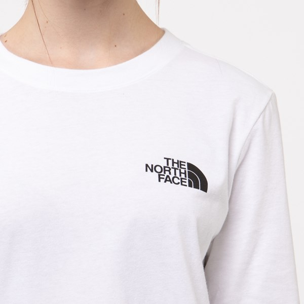 alternate image alternate view Womens The North Face Brand Proud Long Sleeve Tee - WhiteALT4