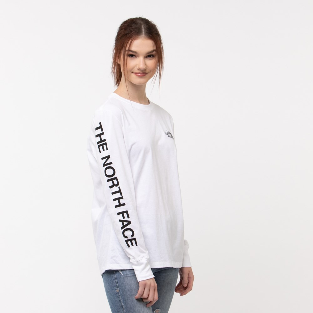 Womens The North Face Brand Proud Long Sleeve Tee - White