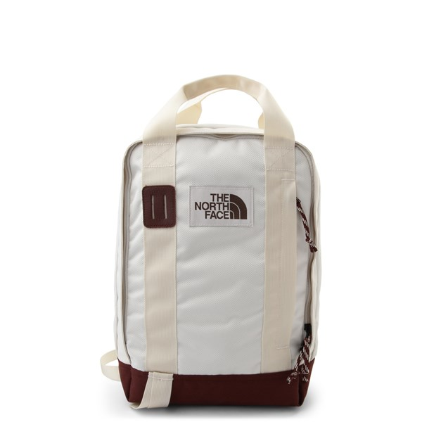 Main view of The North Face Tote Backpack - Vintage White / Red