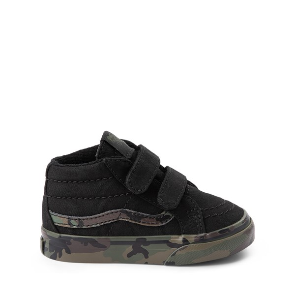 Main view of Vans Sk8 Mid Reissue V Skate Shoe - Baby / Toddler - Black / Camo