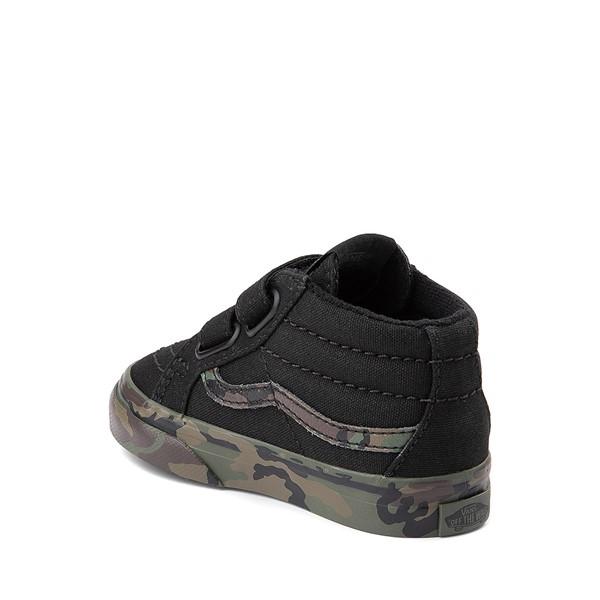 alternate image alternate view Vans Sk8 Mid Reissue V Skate Shoe - Baby / Toddler - Black / CamoALT1
